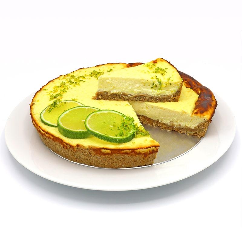 Tarta de queso fría al limón