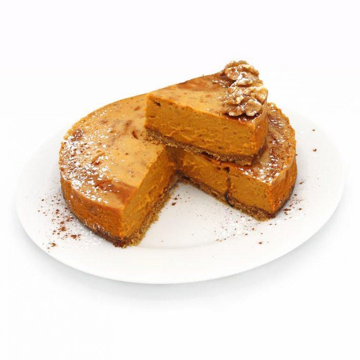 Cheesecake de calabaza marmolado
