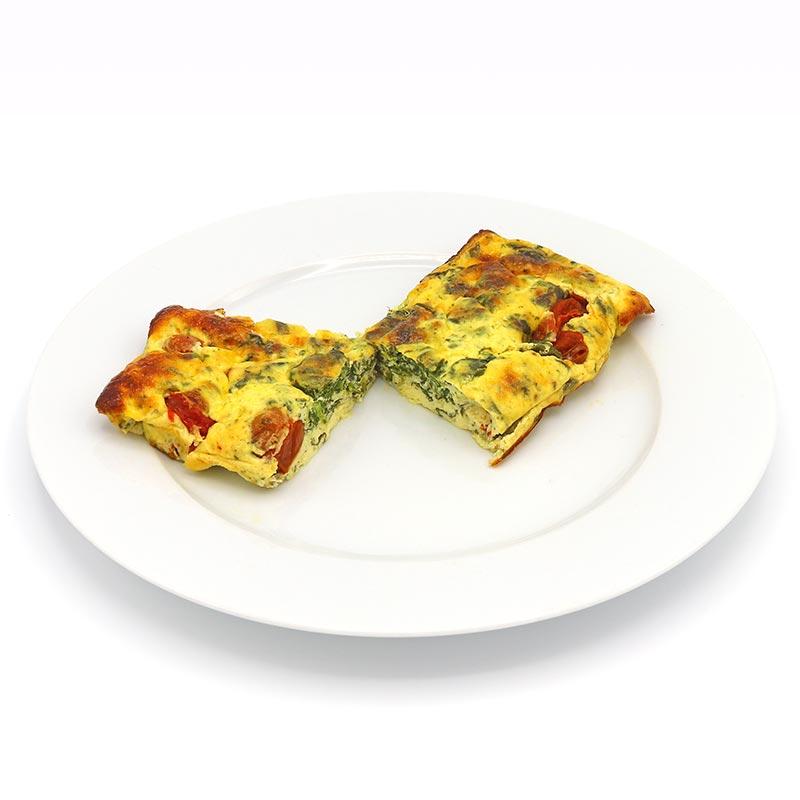 Quiche de espinacas y queso al horno