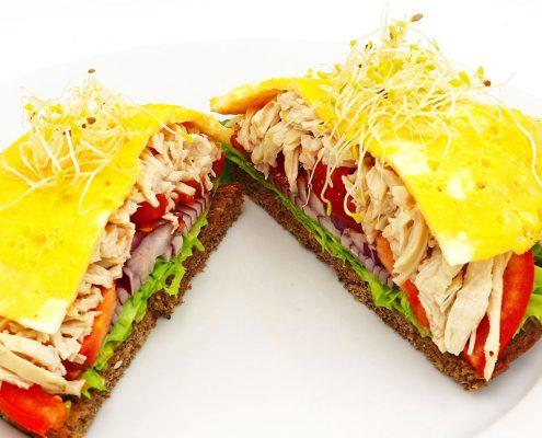 Sandwich club saludable