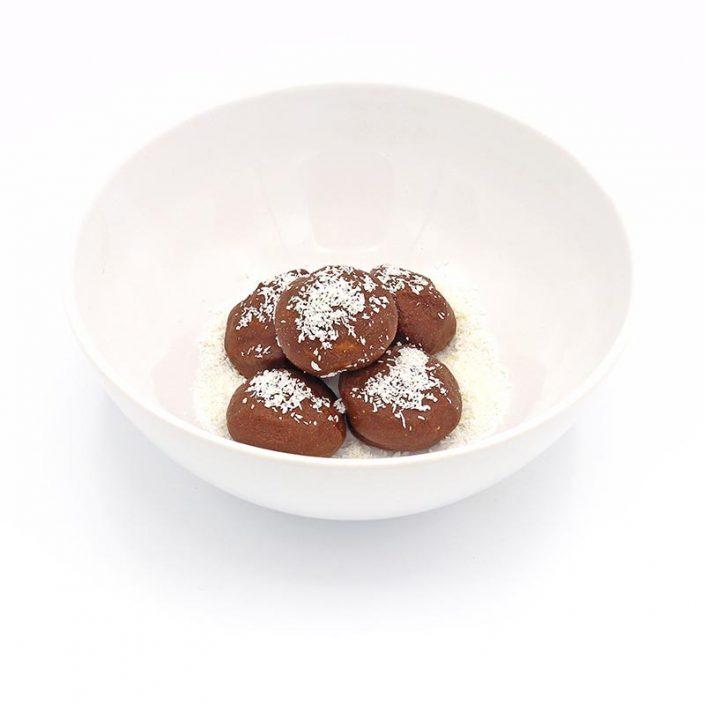 Bombones de avena y chocolate